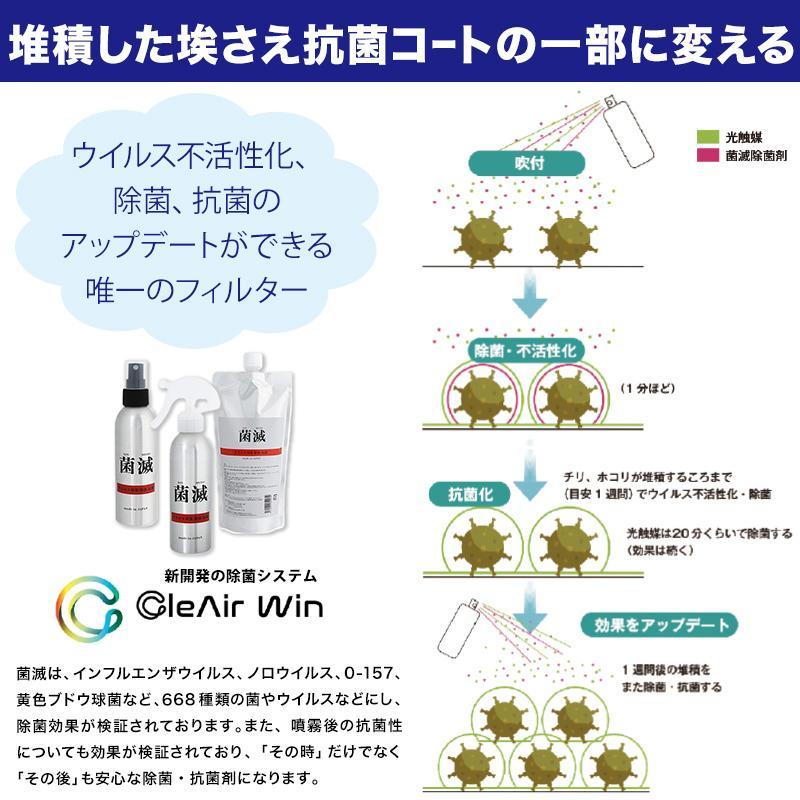 CleAirWin エアコンフィルター業務用 570×570mm (クレアウィン クレアウイン 菌滅 抗菌 抗ウイルス 空気清浄 除菌空調 マスクに匹敵) (送料無料) (取寄せ)|schoolog|07