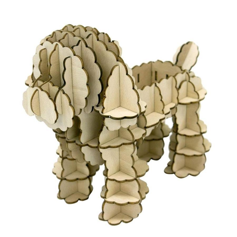 ki-gu-mi Living トイプードル 卓上小物入れ/作って、飾ってお楽しみください。/玩具