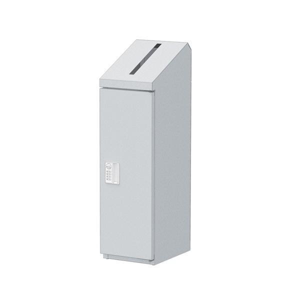 ぶんぶく 機密書類回収ボックス スリム ダイヤル錠仕様 ダイヤル錠仕様 シルバーメタリック KIM-S-4D/機密書類を明確・安全に管理、ダイヤル錠仕様。/オフィス収納