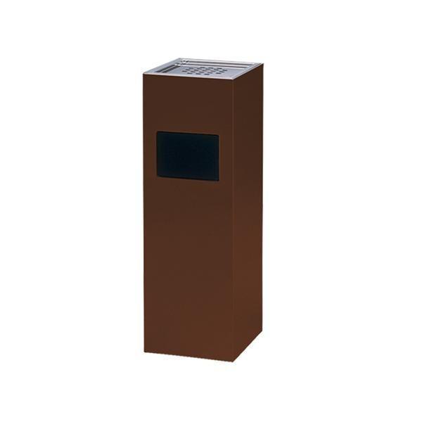 ぶんぶく ウッドシリーズ スモーキングトラッシュ スモーキングトラッシュ ダークブラウン STS-W-DBR/MDFとウレタン塗装仕上のゴミ箱付灰皿/オフィス収納
