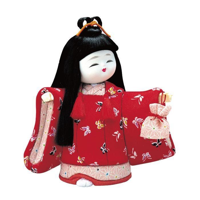 01-442 およばれ 完成品/かわいらしい女の子の木目込み人形。/玩具
