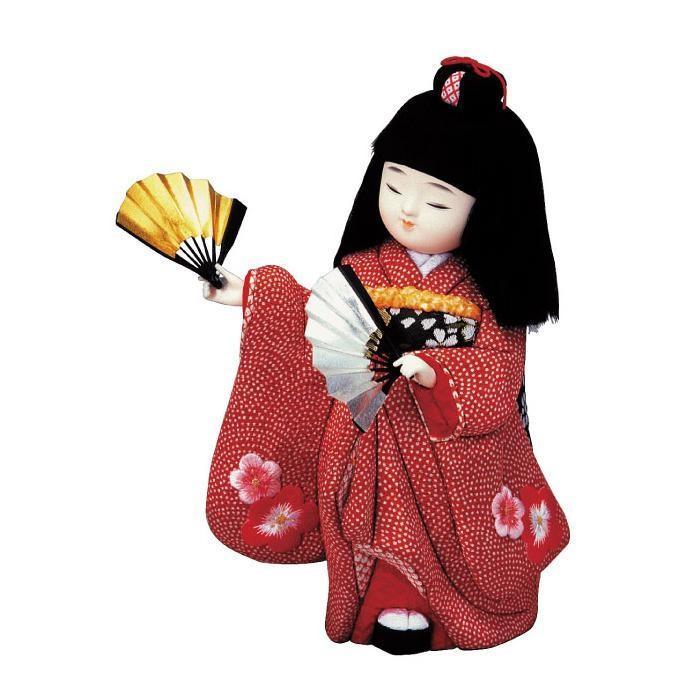 01-472 胡蝶の舞 完成品/かわいらしい女の子の木目込み人形。/玩具