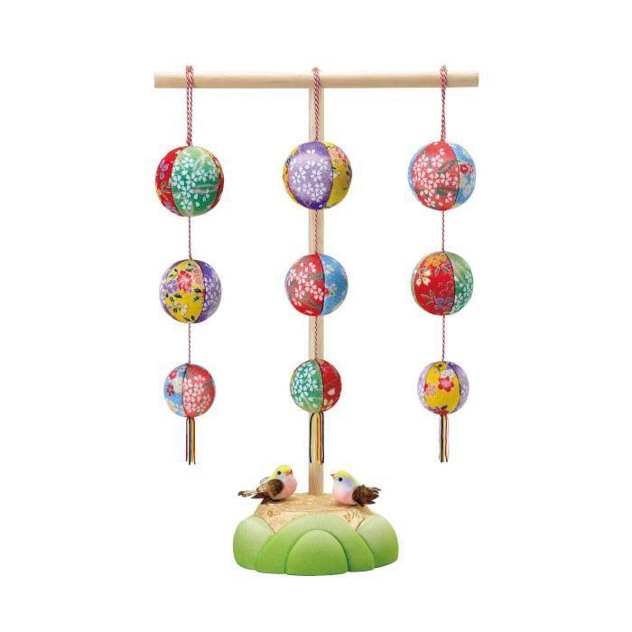 01-776 春の園(スタンド付) セット/かわいらしい木目込みのオブジェ。/玩具