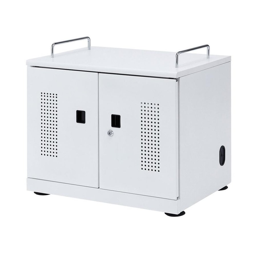 サンワサプライ サンワサプライ タブレット収納キャビネット(20台収納) CAI-CAB103W/安心!鍵付き保管庫!/オフィス収納