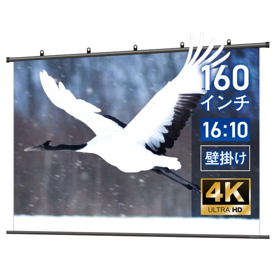 プロジェクタースクリーン タペストリー(掛け軸)スクリーン 160インチ(16:10) BTP3446XEH|screen-theaterhouse