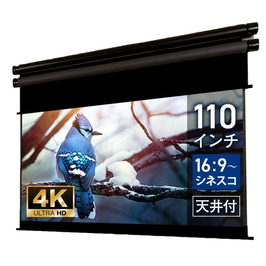 プロジェクタースクリーン 電動スクリーン ハイブリッドタイプ 110インチ(ワイド)  世界初!比率が変えれる BXR2435WEM screen-theaterhouse