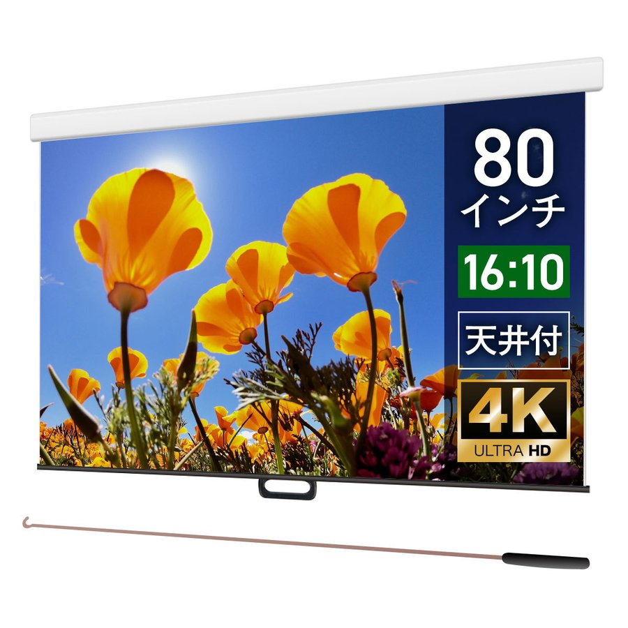 【日本未発売】 プロジェクタースクリーン ケースあり スプリングスクリーン WCS1723FEH マスクフリー ケースあり 80インチ(16:10) マスクフリー WCS1723FEH, ミシン屋さん117:933f354b --- grafis.com.tr