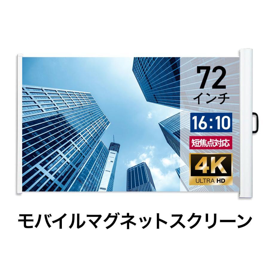 シアターハウス モバイルマグネットスクリーン 16:10 WXGA 72インチ ...