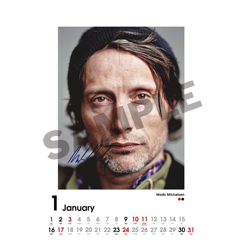 SCREEN collections カレンダー 2021 マッツ・ミケルセン 【購入特典:ミニカレンダー付き】 《入荷済み》|screenstore|02
