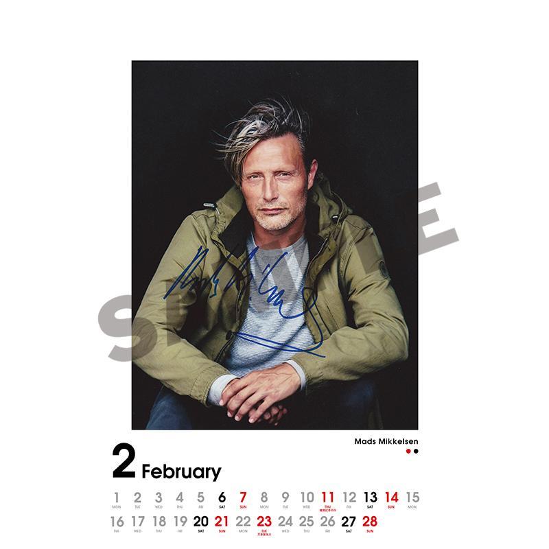 SCREEN collections カレンダー 2021 マッツ・ミケルセン 【購入特典:ミニカレンダー付き】 《入荷済み》|screenstore|03
