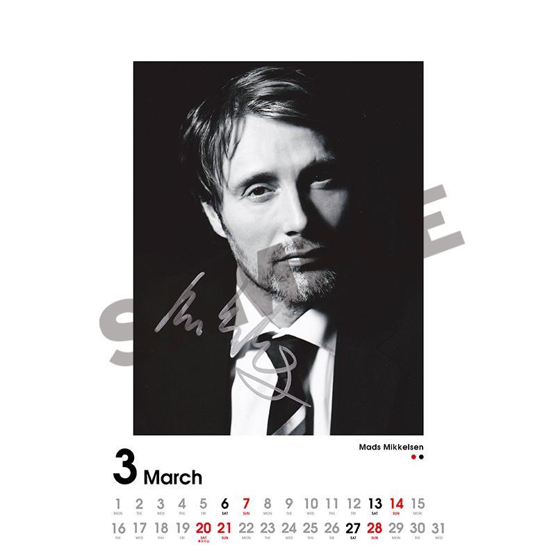 SCREEN collections カレンダー 2021 マッツ・ミケルセン 【購入特典:ミニカレンダー付き】 《入荷済み》|screenstore|04