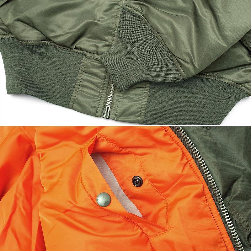ALPHA社 アルファ #2000 MA-1 フライトジャケット ナイロンヘビーツイル  メンズ MA1 ミリジャケ ブルゾン レギュラーサイズ 大きめ ビッグシルエット {TKA} seabees 10