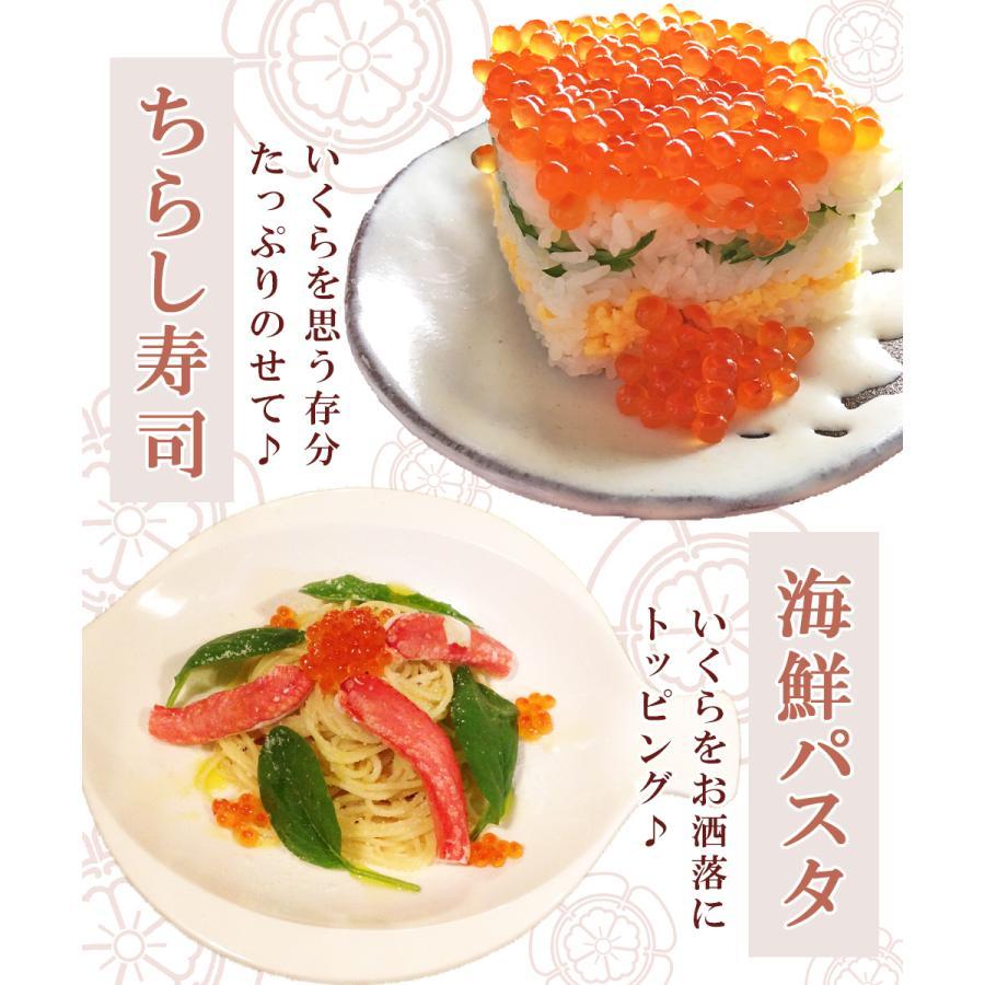 いくら 500g 鮭 北海道産 醤油漬け|seafoodhonpo88|04