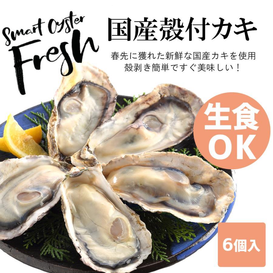 お刺身用 牡蠣 生食用 殻付き  6個 冷凍 父の日 プレゼント 60代 70代 80代 seafoodhonpo88 02