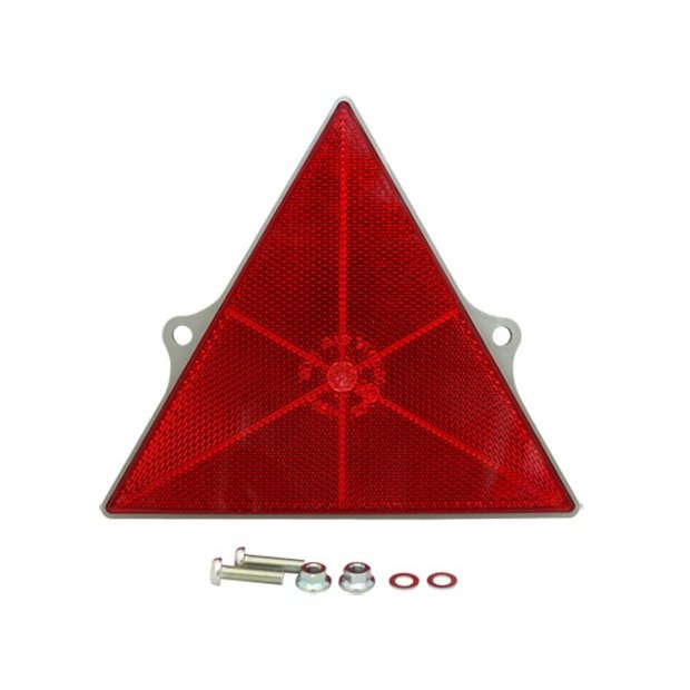 三角反射板 リフレクター 耳付 送料無料限定セール中 人気 取付ネジ付