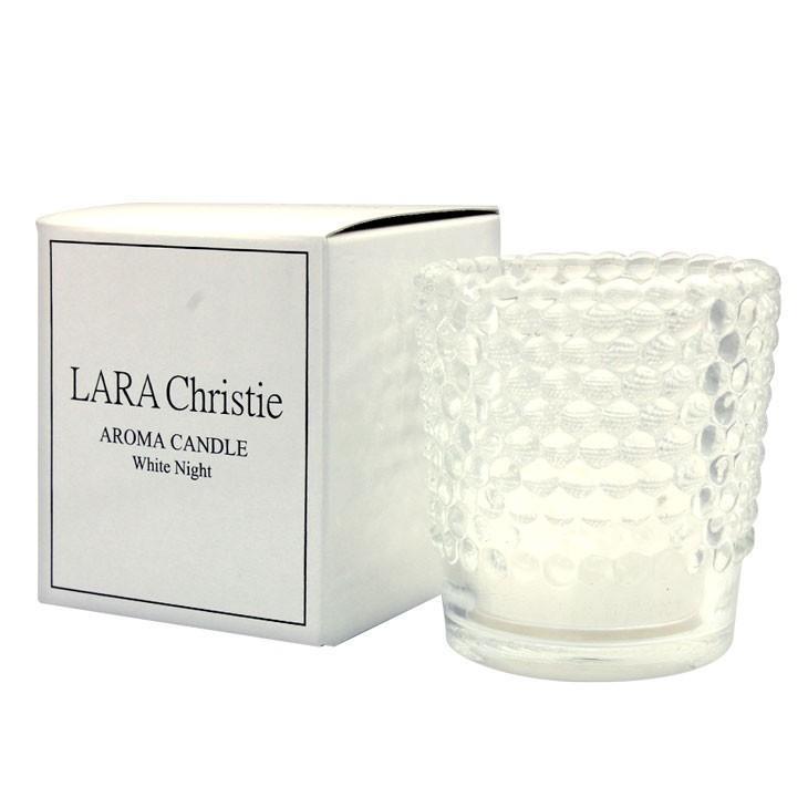アロマキャンドル LARA 半額 Christie ララクリスティー ホワイトナイト WHITE 気質アップ 誕生日 Label