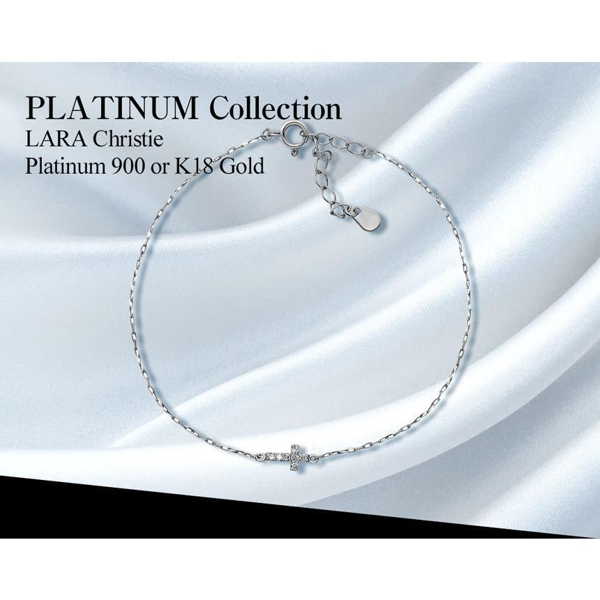 ブレスレット レディース k18 ダイヤモンド クロス 2way 0.05ct PT900 LARA Christie ララクリスティー プレゼント|sears-collection|05
