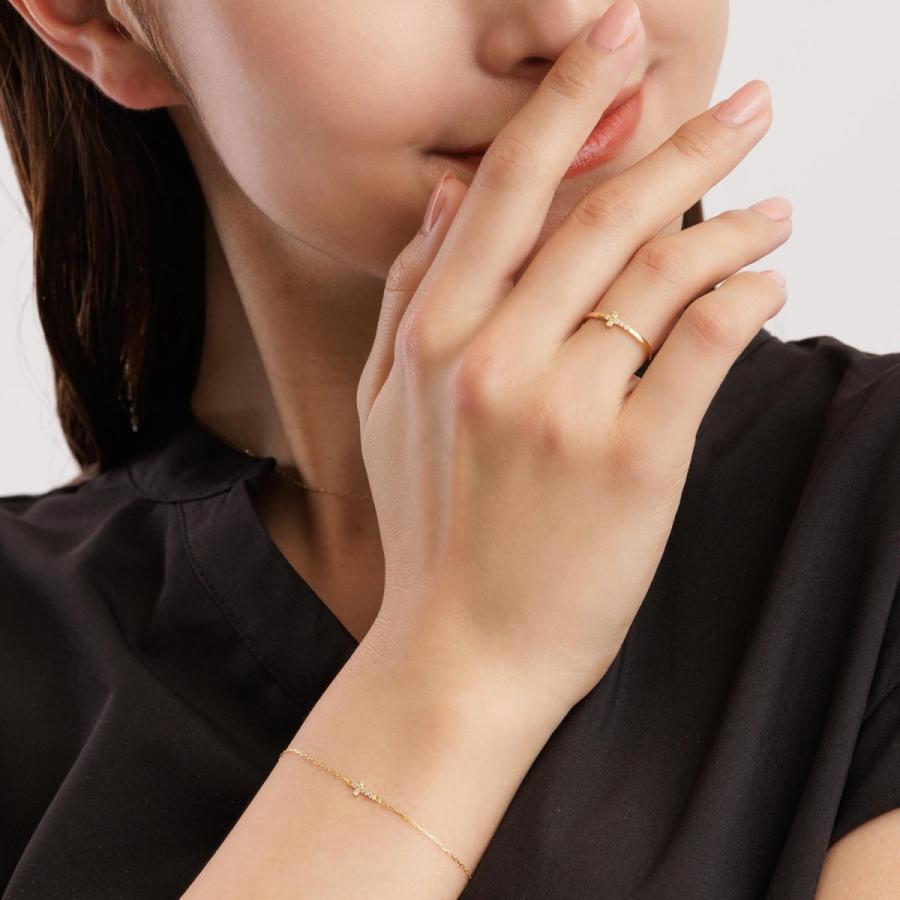 ブレスレット レディース k18 ダイヤモンド クロス 2way 0.05ct PT900 LARA Christie ララクリスティー プレゼント|sears-collection|06