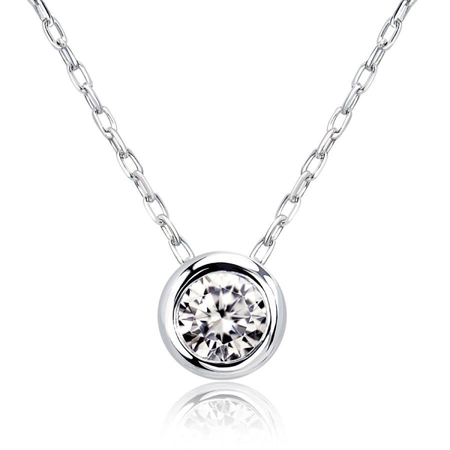 ダイヤモンド ネックレス レディース ダイヤモンド フクリン 0.1ct プラチナ PT900 ゴールド K18 LARA Christie ララクリスティー サニー 0.1ct|sears-collection|03