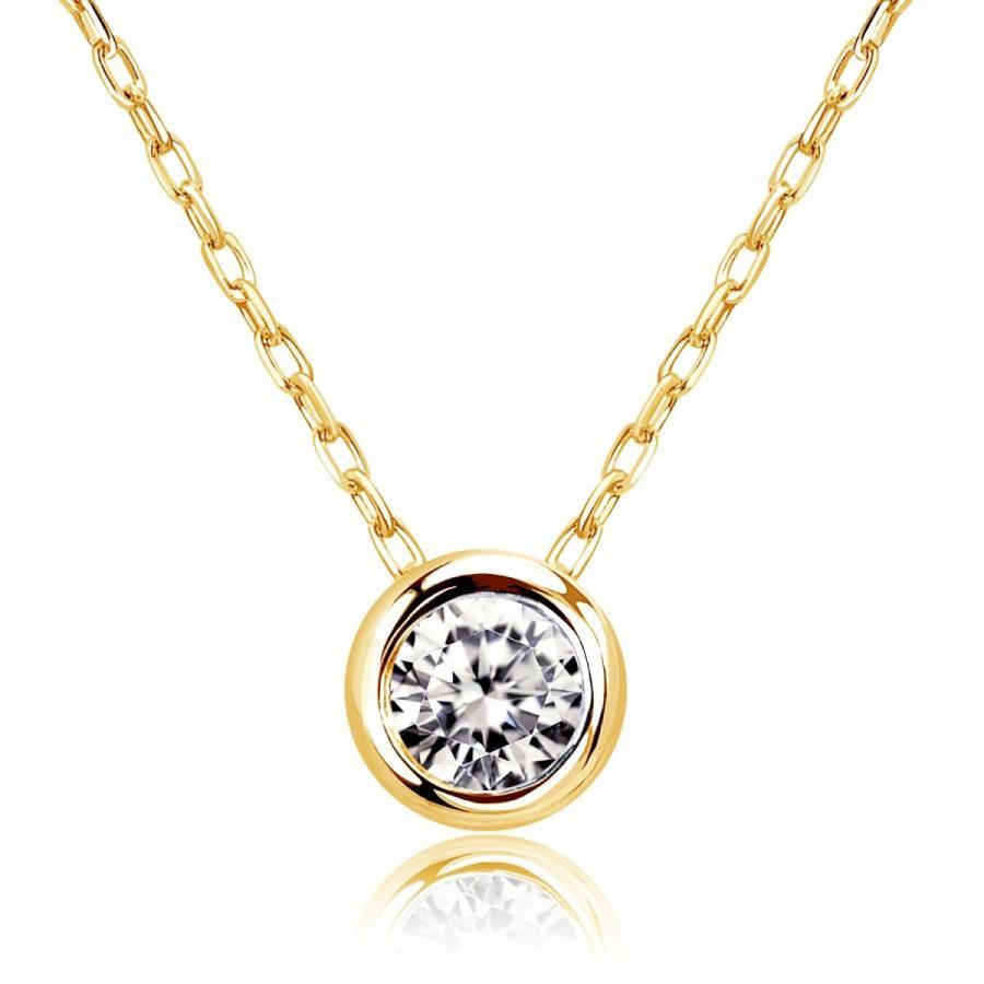 ダイヤモンド ネックレス レディース ダイヤモンド フクリン 0.1ct プラチナ PT900 ゴールド K18 LARA Christie ララクリスティー サニー 0.1ct|sears-collection|04