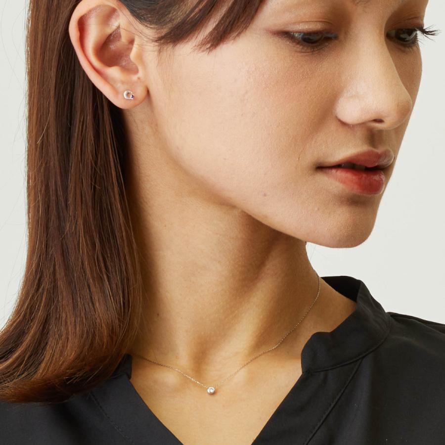 ダイヤモンド ネックレス レディース ダイヤモンド フクリン 0.1ct プラチナ PT900 ゴールド K18 LARA Christie ララクリスティー サニー 0.1ct|sears-collection|06