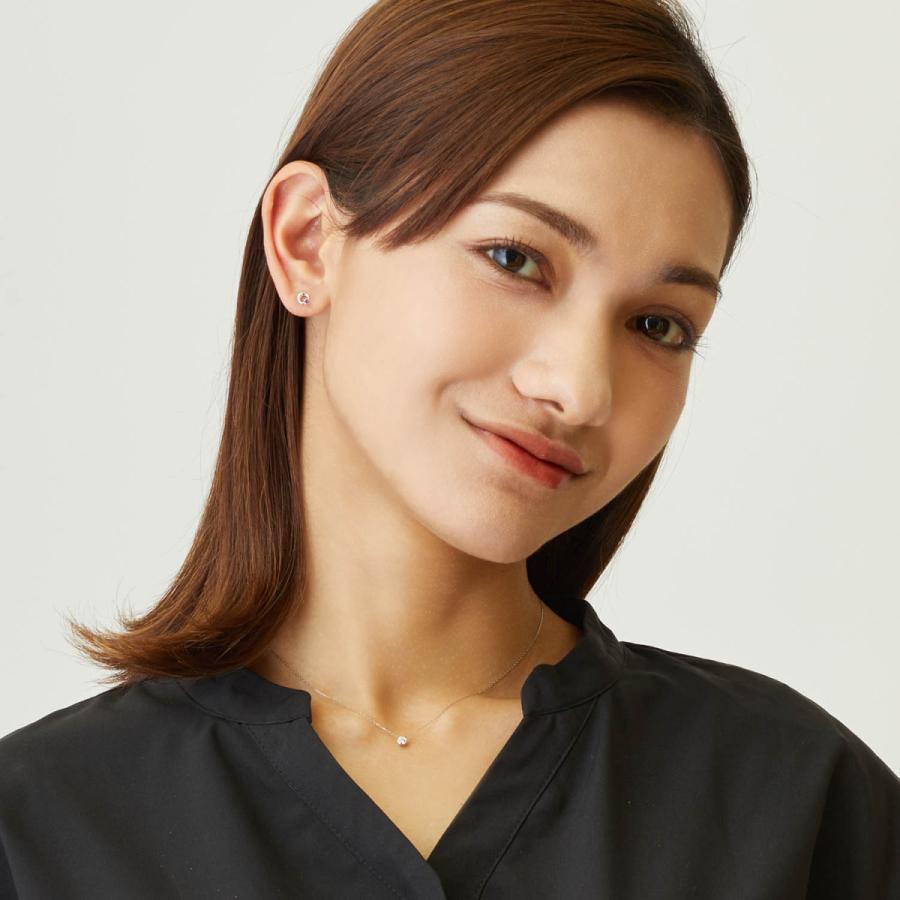 ダイヤモンド ネックレス レディース ダイヤモンド フクリン 0.1ct プラチナ PT900 ゴールド K18 LARA Christie ララクリスティー サニー 0.1ct|sears-collection|07