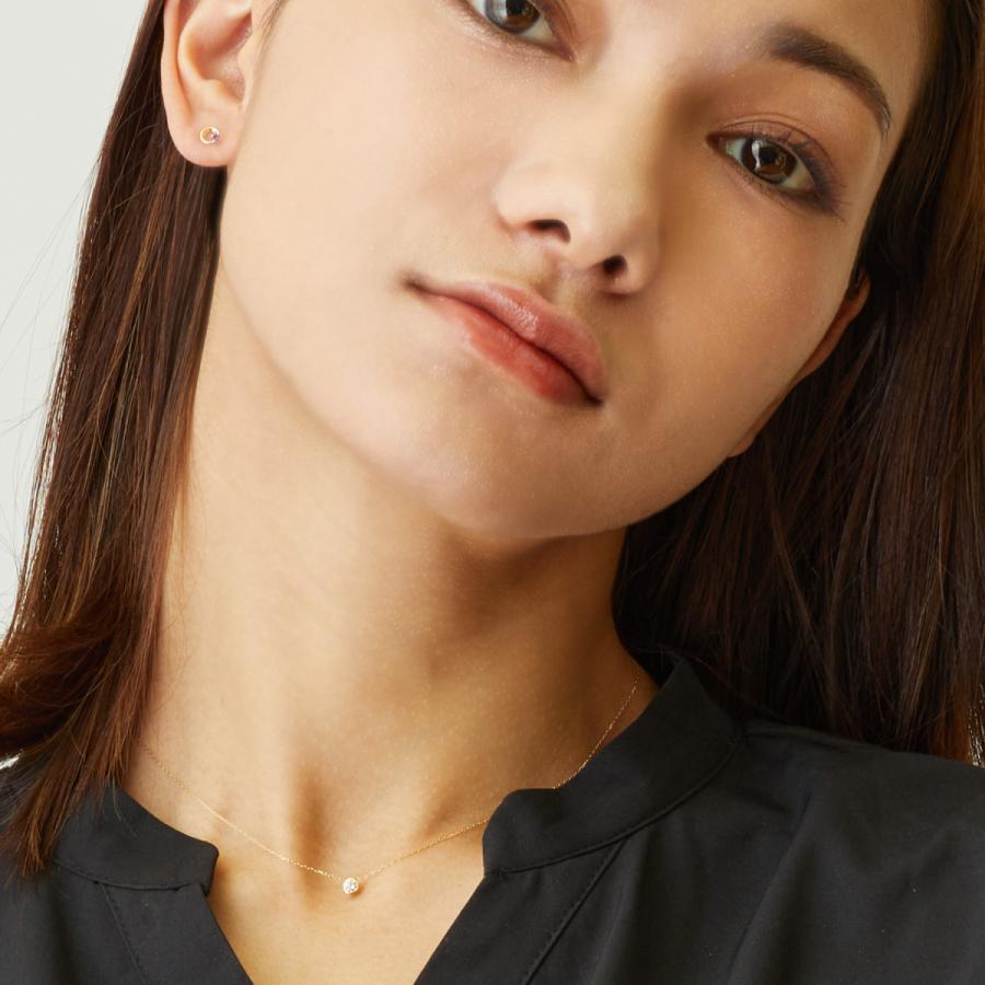 ダイヤモンド ネックレス レディース ダイヤモンド フクリン 0.1ct プラチナ PT900 ゴールド K18 LARA Christie ララクリスティー サニー 0.1ct|sears-collection|08