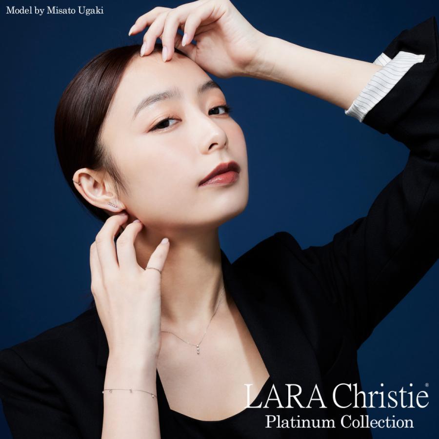 ダイヤモンド ネックレス レディース ダイヤモンド フクリン 0.3ct 一粒 ダイヤモンド PT900 LARA Christie ララクリスティー プラチナム コレクション|sears-collection|02
