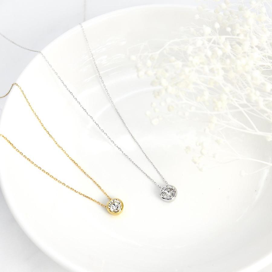 ダイヤモンド ネックレス レディース ダイヤモンド フクリン 0.3ct 一粒 ダイヤモンド PT900 LARA Christie ララクリスティー プラチナム コレクション|sears-collection|05