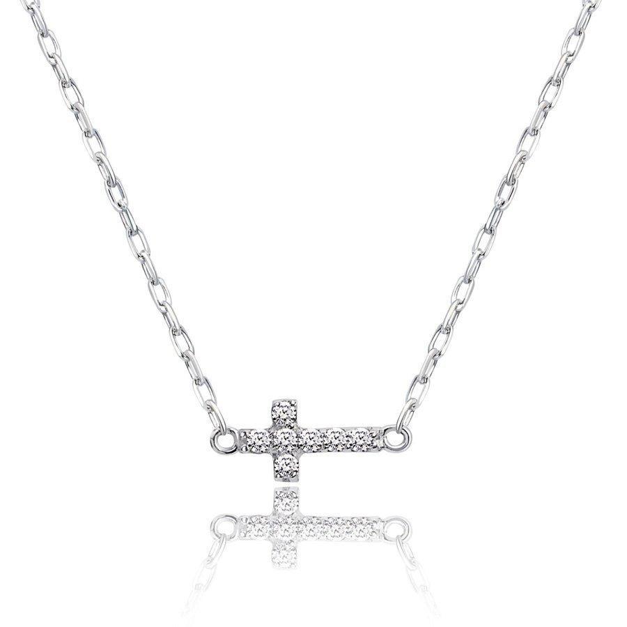 ネックレス レディース 18金 ダイヤモンド クロス 2way プラチナ 0.05ct PT900 LARA Christie ララクリスティー sears-collection 03