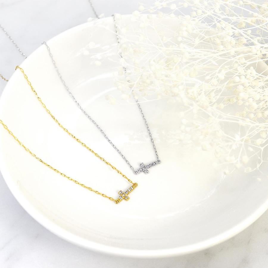 ネックレス レディース 18金 ダイヤモンド クロス 2way プラチナ 0.05ct PT900 LARA Christie ララクリスティー sears-collection 05
