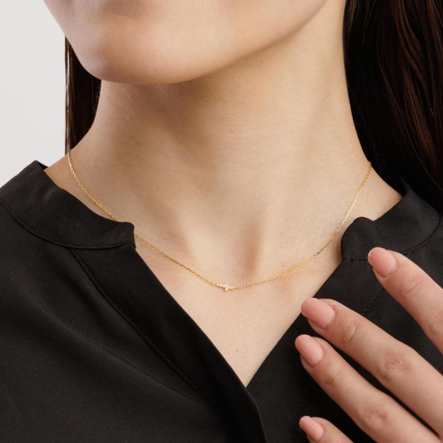 ネックレス レディース 18金 ダイヤモンド クロス 2way プラチナ 0.05ct PT900 LARA Christie ララクリスティー sears-collection 06