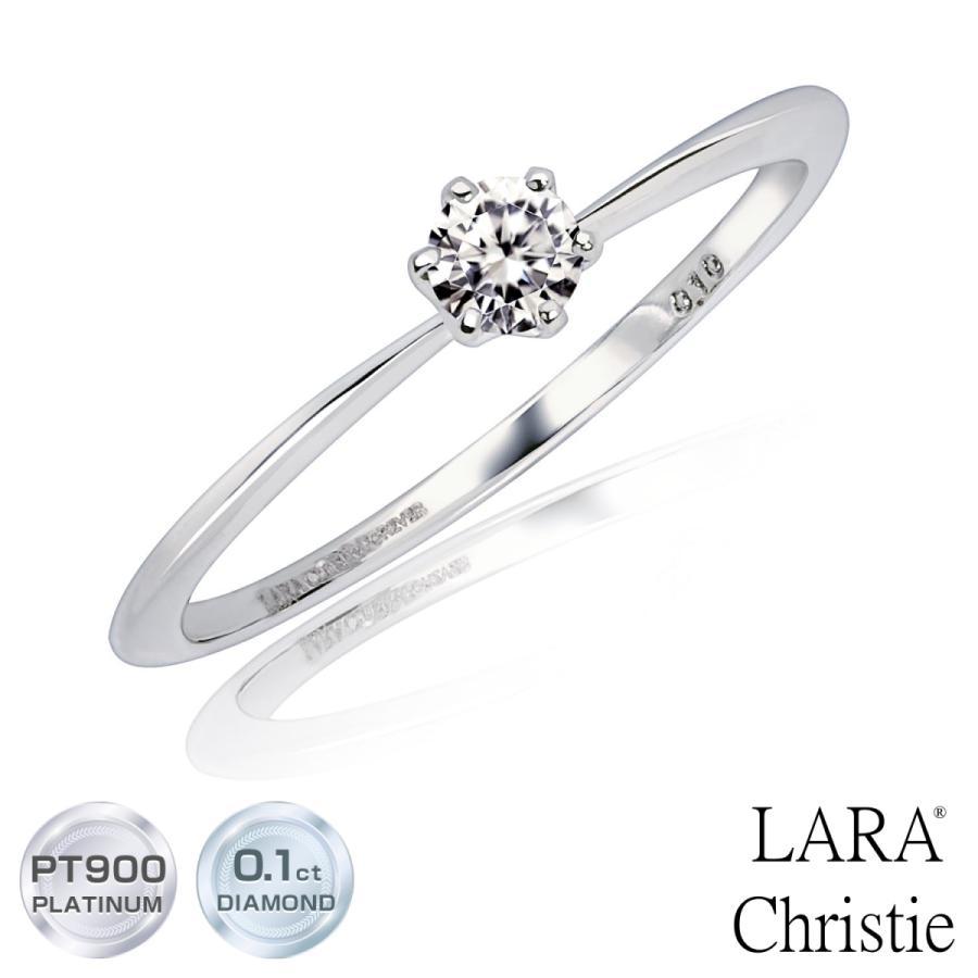 エンゲージリング ダイヤモンド指輪  FOREVER ダイヤモンド 0.1ct PT950 K18 ゴールド LARA Christie ララクリスティー PLATINUM lr71-0003|sears-collection