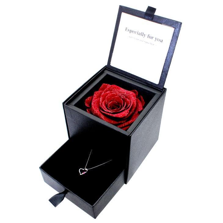 ダイヤモンド ネックレス レディース 6本爪 プリザーブドフラワー ローズ 薔薇 ボックス Sears (シアーズ)|sears-collection|04