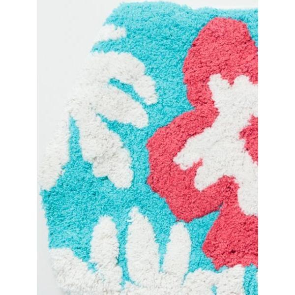 ハワイアントイレマットとカバーセット ALOHAデザイン ボタニカル柄 おしゃれなトイレ敷きマット ふたカバー|seashells-zakka|02