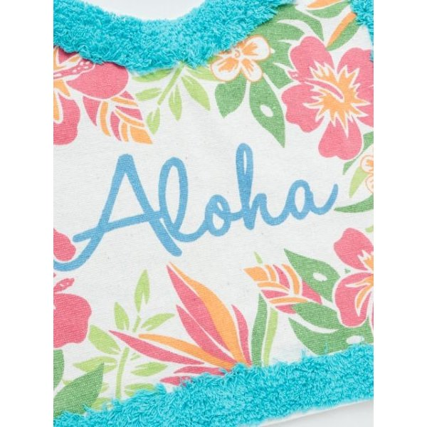ハワイアントイレマットとカバーセット ALOHAデザイン ボタニカル柄 おしゃれなトイレ敷きマット ふたカバー|seashells-zakka|04