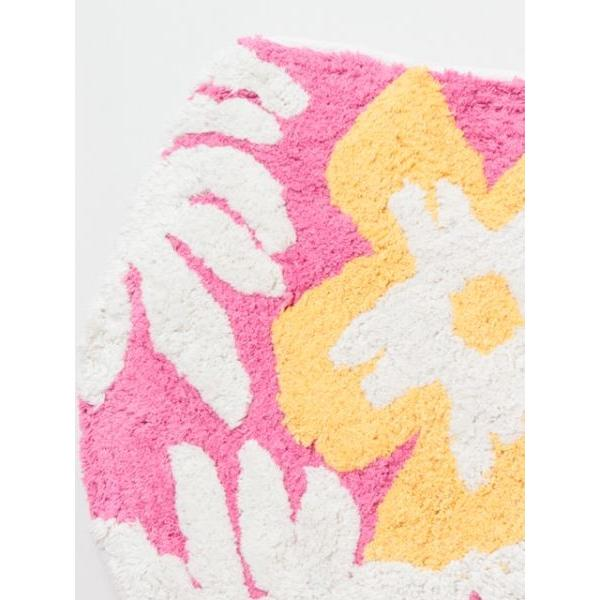 ハワイアントイレマットとカバーセット ALOHAデザイン ボタニカル柄 おしゃれなトイレ敷きマット ふたカバー|seashells-zakka|07