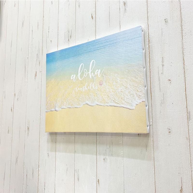 キャンバス地フォト 波打ち際 ビーチブレイク ショアブレイク リゾート 海の景色 大きめ F6 seashells-zakka 05