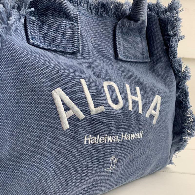 フリンジアロハ刺繍トートバッグ ハワイアンブランドハレイワ 小さめサイズ レディースバッグ 小物バッグ seashells-zakka 11