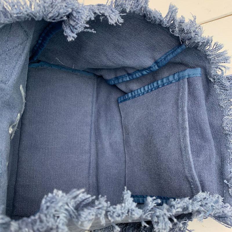 フリンジアロハ刺繍トートバッグ ハワイアンブランドハレイワ 小さめサイズ レディースバッグ 小物バッグ seashells-zakka 15