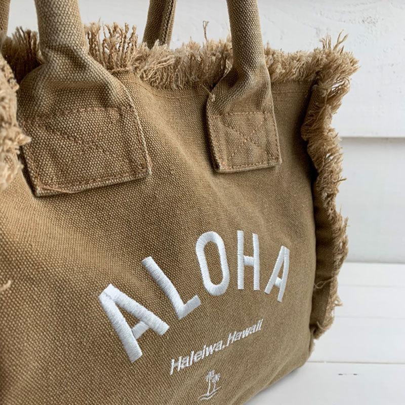 フリンジアロハ刺繍トートバッグ ハワイアンブランドハレイワ 小さめサイズ レディースバッグ 小物バッグ seashells-zakka 17