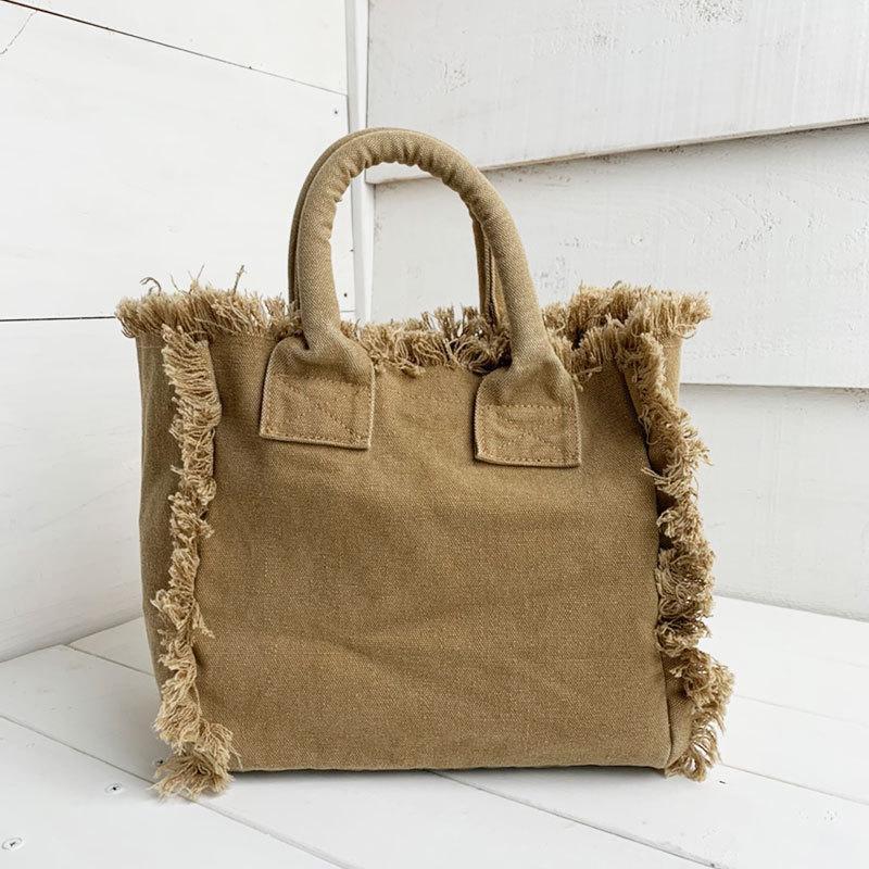 フリンジアロハ刺繍トートバッグ ハワイアンブランドハレイワ 小さめサイズ レディースバッグ 小物バッグ seashells-zakka 20