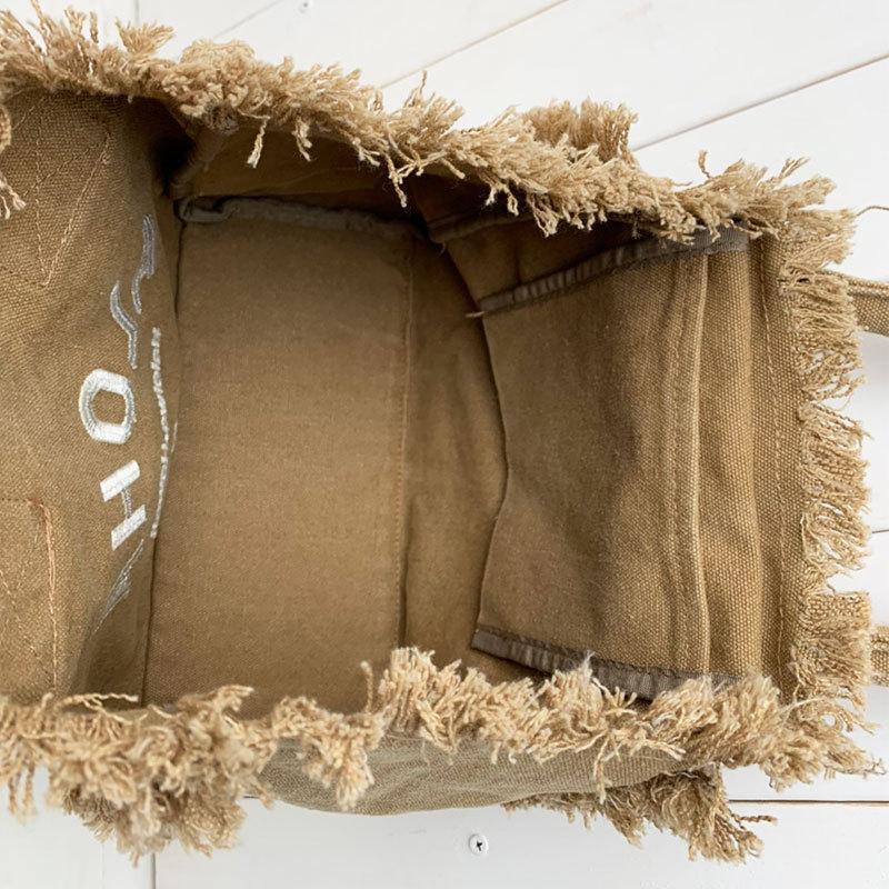フリンジアロハ刺繍トートバッグ ハワイアンブランドハレイワ 小さめサイズ レディースバッグ 小物バッグ seashells-zakka 21