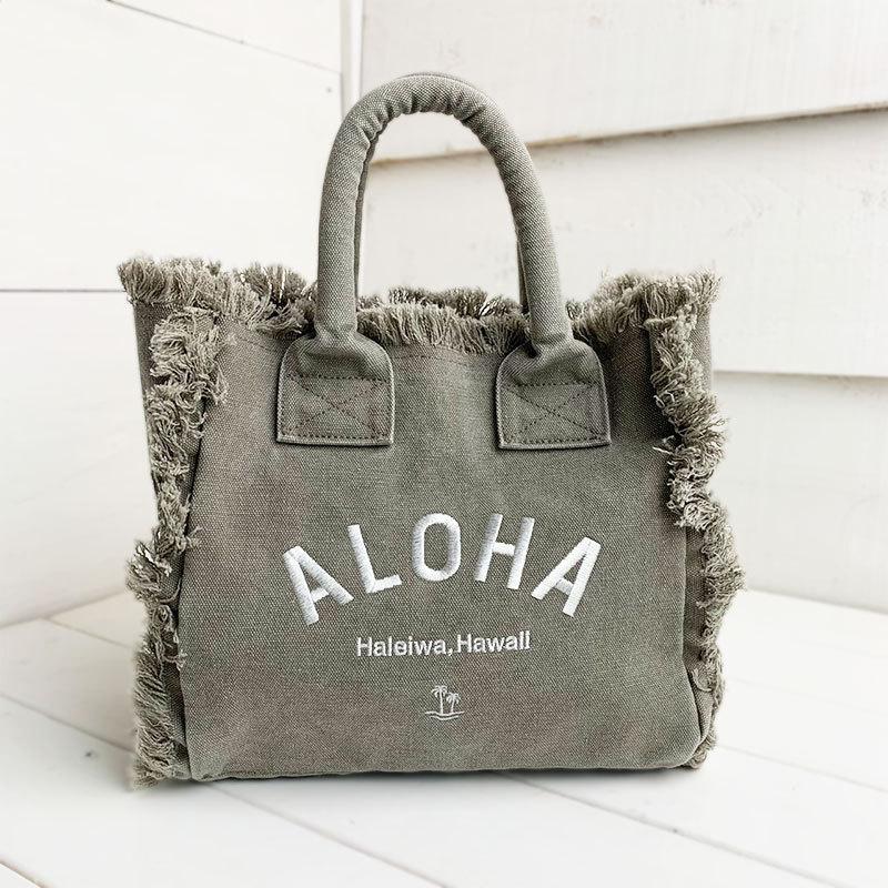 フリンジアロハ刺繍トートバッグ ハワイアンブランドハレイワ 小さめサイズ レディースバッグ 小物バッグ seashells-zakka 05
