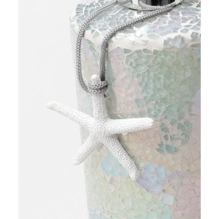 ビーチタイルデザインガラスディスペンサー 海のようなカラーガラスソープ入れボトル シャンプーボトル |seashells-zakka|04