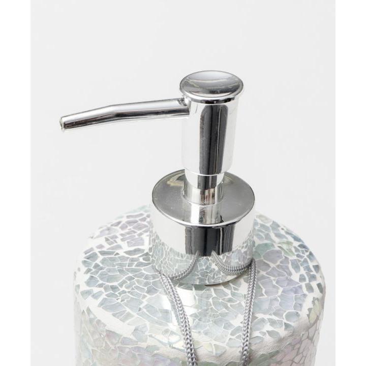 ビーチタイルデザインガラスディスペンサー 海のようなカラーガラスソープ入れボトル シャンプーボトル |seashells-zakka|05