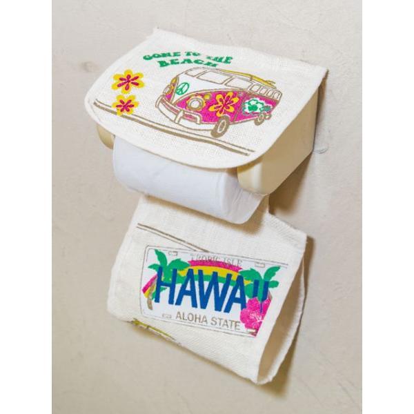 トイレットペーパーカバー トイレ用ハワイアン柄ペーパーカバー おしゃれなワーゲンイラスト かわいいホヌ カメ seashells-zakka 08