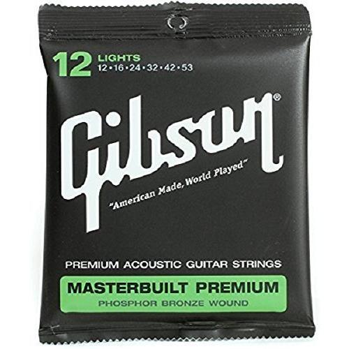 Gibson オンライン限定商品 SAG-MB12 アコースティックギター弦 Masterbuilt 012-053 Premium ライトゲージ 人気 ギブソン