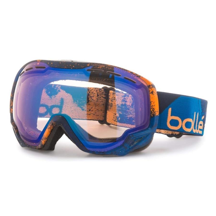 品質は非常に良い ボレー (Bolle) エンペラー EMPEROR スキー スノーボード ゴーグル PHOTOCHROMIC 調光レンズ (Navy & Orange, 布団モール 7dd45848