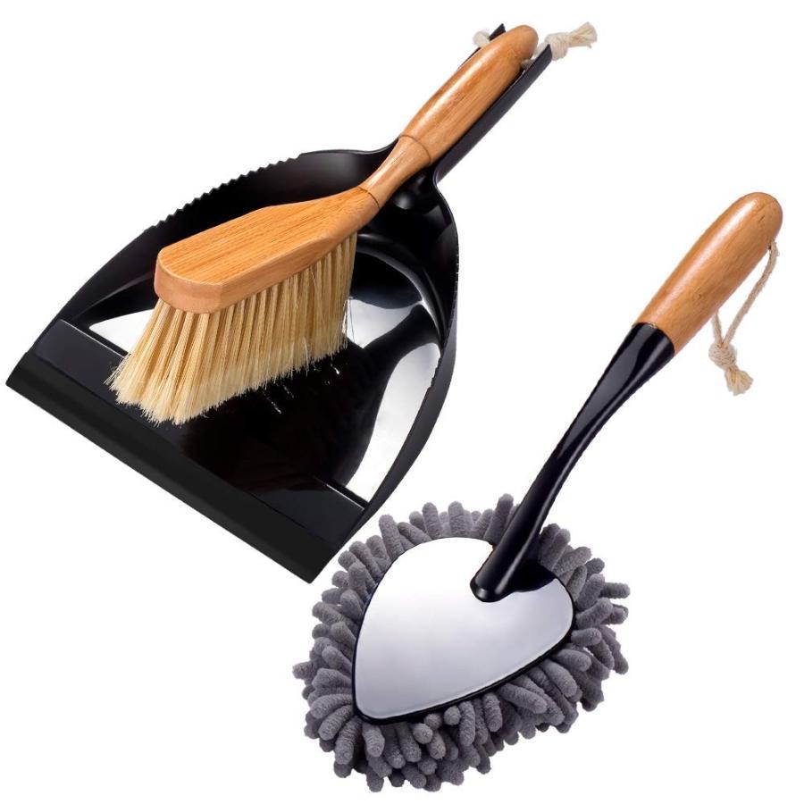 ほうきちりとりセット 竹製 卓上ほうき お掃除セット ちりとりセット ホコリ取り ブラシちりとりセット 掃除用品 清掃用品 収納便利 台掃除用 玄関